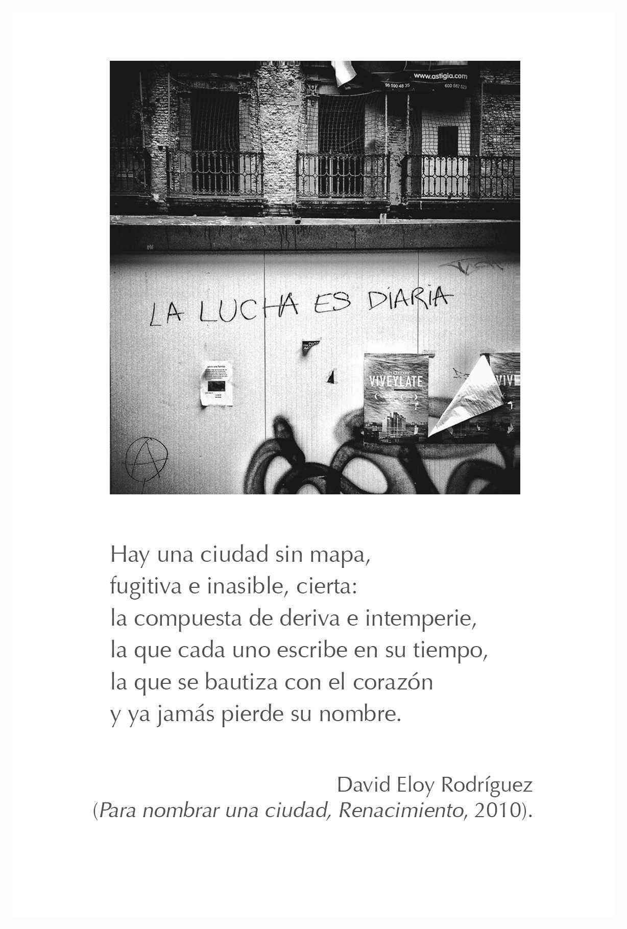 Poema de David Eloy Rodríguez